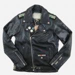 Blouson biker cuir, blouson biker homme, blouson biker femme, bouson biker, blouson biker imprimé, perfecto patchs, patchs cousu, blouson cuir agneau,